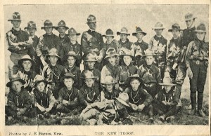'The Kew Troop'. J.E. Barnes (photographer). Kew Historical Society collection